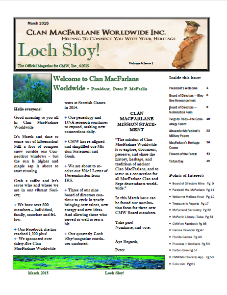 Loch Sloy cover Mar 2015