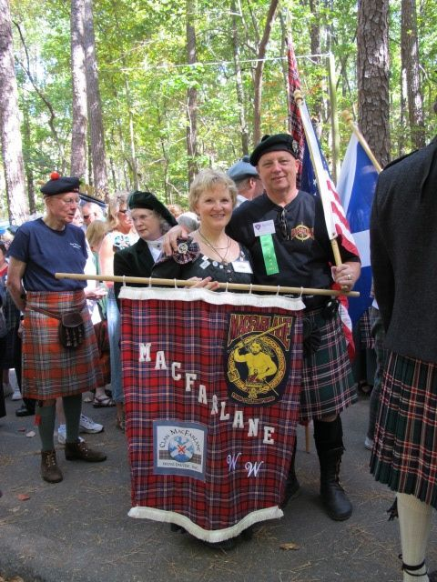 2011 Stone Mt. AMM Clan march Randy and Cheryl McFarland.jpg