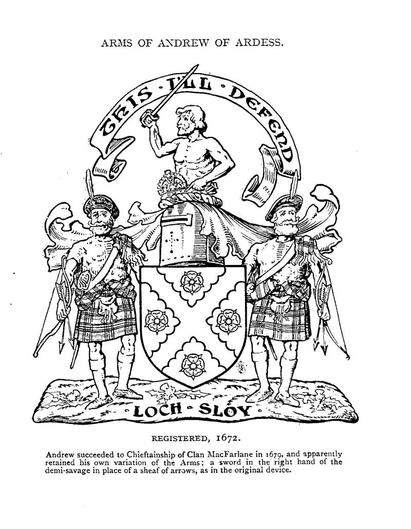 MacFarlane Chiefly Coat of Arms