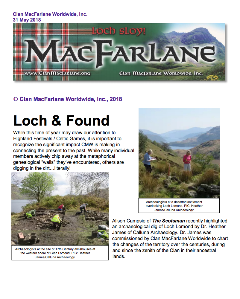 May Newsletter front page